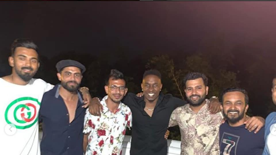 India and West Indies cricket stars attended the party.