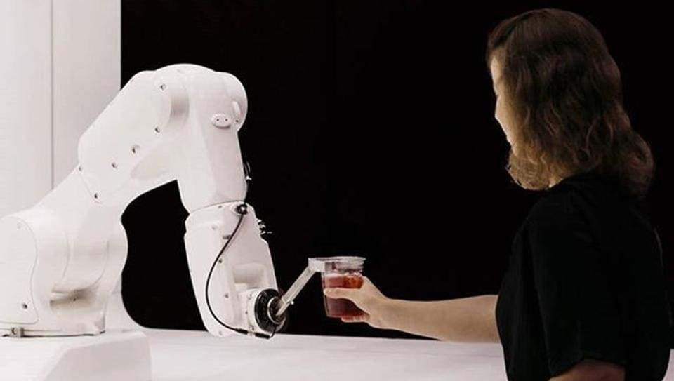 The $110,000 robot bartender mixing great cocktails.