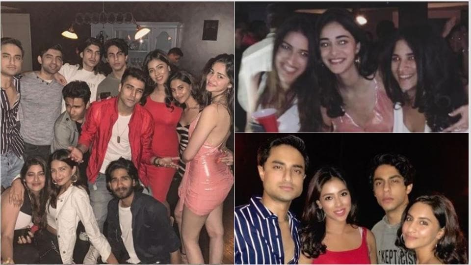 Ananya Panday with her friends at a party.