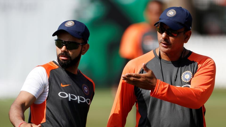 India coach Ravi Shastri with Virat Kohli.