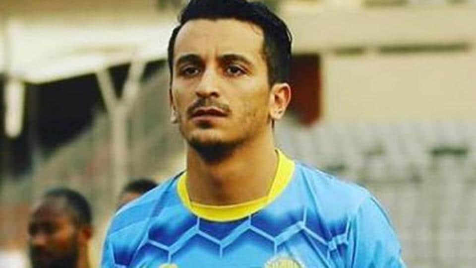 A file photo of Afghanistan midfielder Masih Saighani.