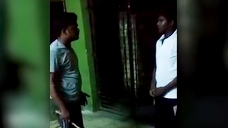 A video clip of a hostel warden beating two students of a privately-run college in Bhubaneswar over poor marks has gone viral on social media.