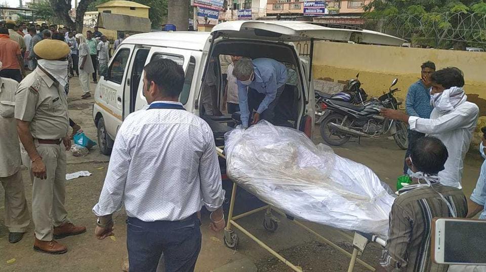 The body of Rati Ram Jatav was taken to Jhiran village after postmortem on Sunday, August 18, 2019.