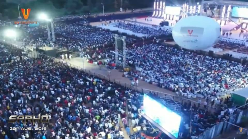 The Saaho event in Hyderabad was attended by over one lakh fans.