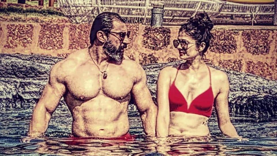 Nawab Shah shared a pool picture with wife Pooja Batra on Instagram.