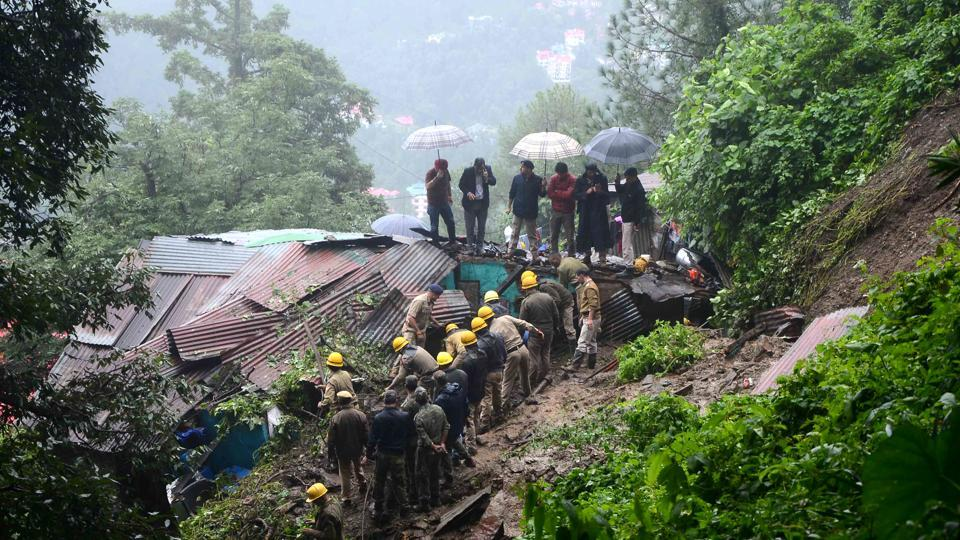 Landslides due to incessant rains have disrupted vehicular traffic and caused damage in  Himachal Pradesh.