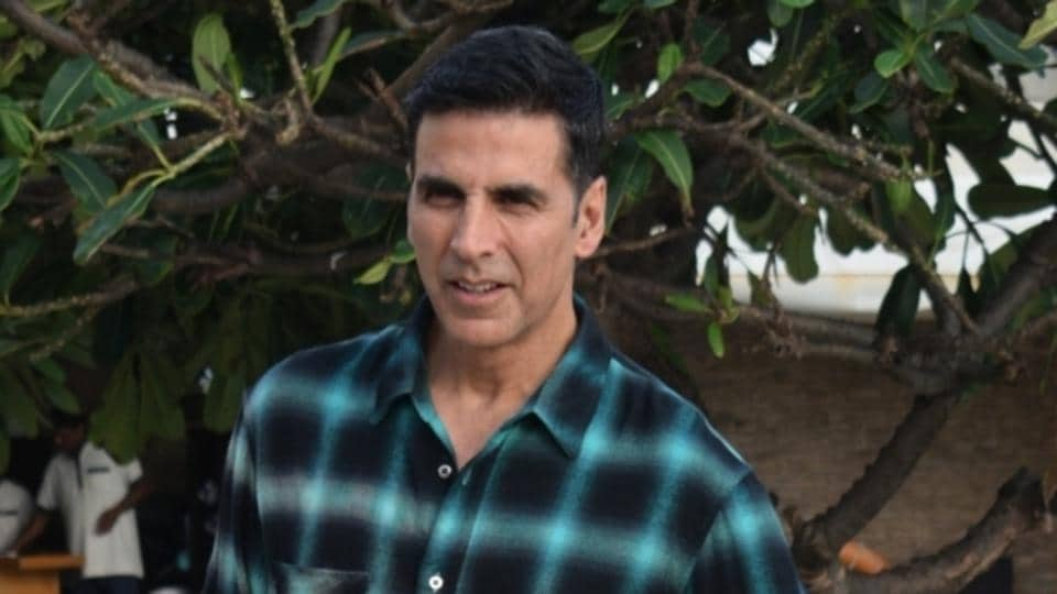 Actor Akshay Kumar during media interactions for his film Mission Mangal in Mumbai.