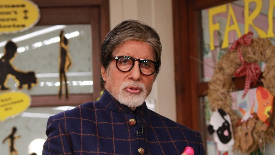 Actor Amitabh Bachchan speaks at the launch of NDTV's Swasth India, in Mumbai.