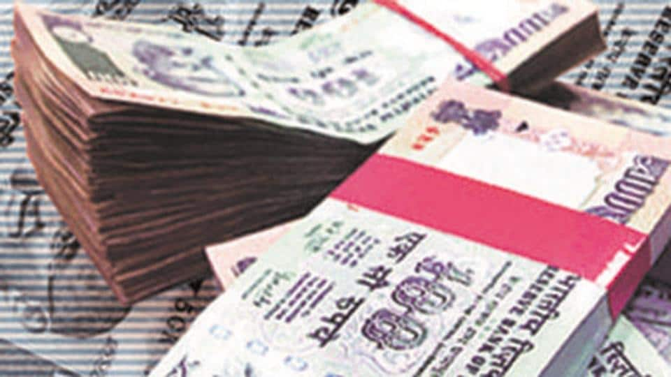 The rupee opened on a weak note and fell 23 paise to 71.66 against the US dollar in early trade on Tuesday.