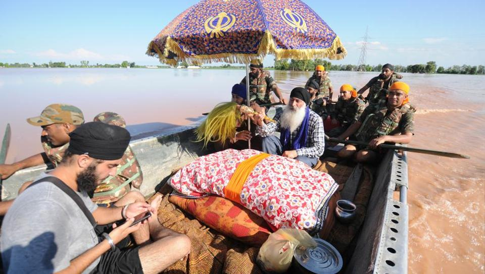 Image result for Flood threat looms over Punjab, Haryana; crosses critical mark