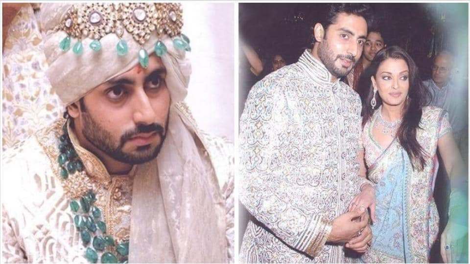 Abhishek Bachchan looked dapper as groom at his wedding with