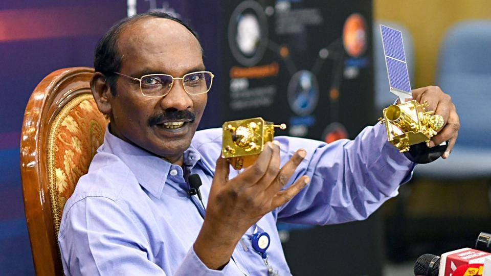 Chairman, Indian Space Research Organisation (ISRO), Dr K Sivan addressing a press conference on the occasion of 'Lunar Orbit Insertion of Chandrayaan-2 Mission', in Bengaluru.