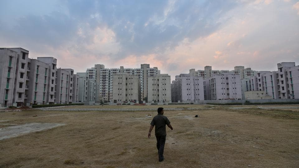 A view of the market inside Delhi Development Authority (DDA) Flats at Narela in New Delhi. The land-owning agency aims to digitise over 2,000 layout plans available with it.