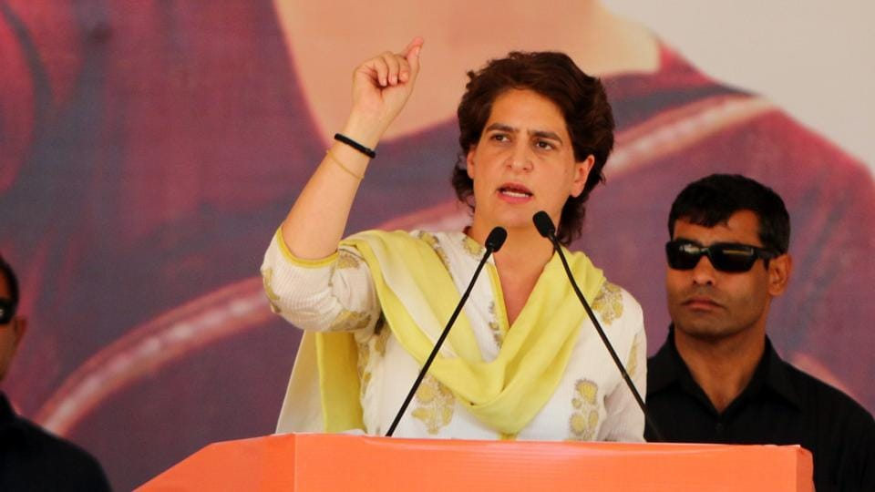 "Priyanka Gandhi – ""There is no safety of women in Uttar Pradesh"""