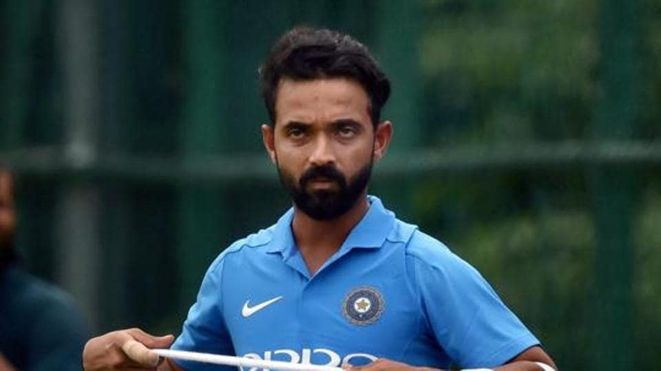 India's Ajinkya Rahane during a practice session