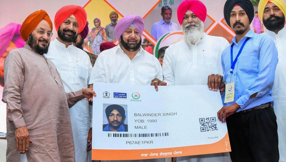 Punjab Chief Minister Capt Amarinder Singh launches his government's flagship universal health insurance scheme 'Sarbat Sehat Bima Yojana' in Chandigarh, Tuesday, August 20, 2019.