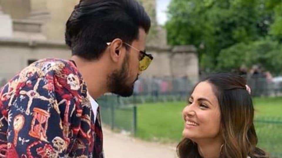Hina Khan has been in a steady relationship with Rocky Jaiswal.