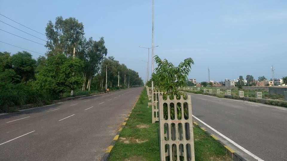 The existing 100ft- wide road in Panipat city.