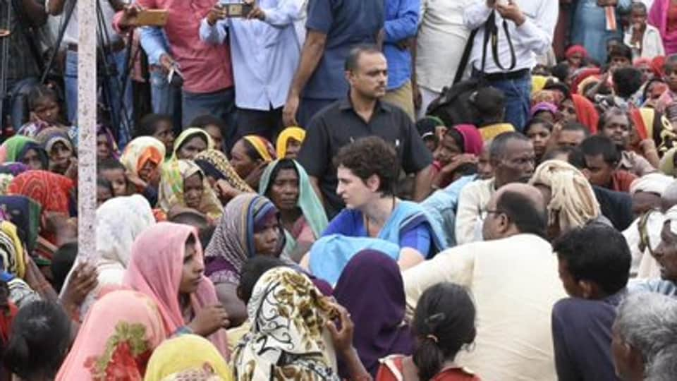 Soon after the Umbha carnage, Congress general secretary Priyanka Gandhi Vadra headed for the village but was stopped by the administration which allegedly 'detained' her. (Photo  @priyankagandhi)
