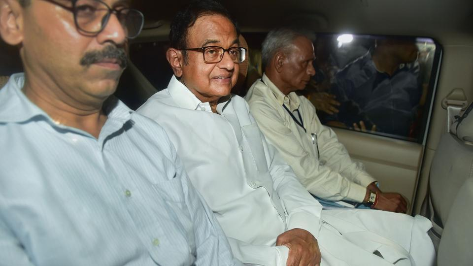 Central Bureau of Investigation (CBI) officials arrested Congress leader P Chidambaram from his Jor Bagh residence in New Delhi, Wednesday.