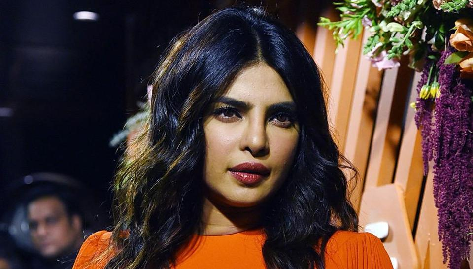 Priyanka Chopra Jonas poses for a picture during the launch event of Bumble, a social and dating application.