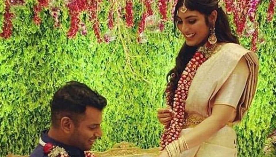 Vishal and Anisha Alla Reddy got engaged in January.