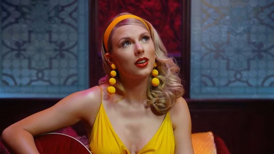Taylor Swift in the video for Lover.