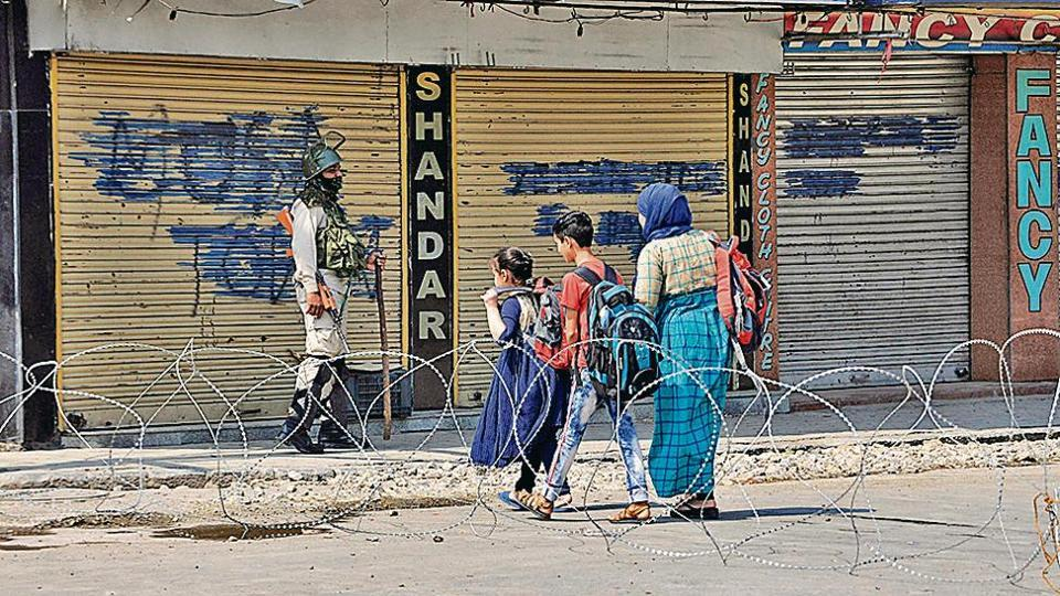 Restrictions were reimposed in Srinagar and other parts of Kashmir valley on Friday after authorities feared large-scale protests after Friday prayers and rumours swirled about a big march to the office of UN Military Observers Group in India and Pakistan (UNMOGIP).