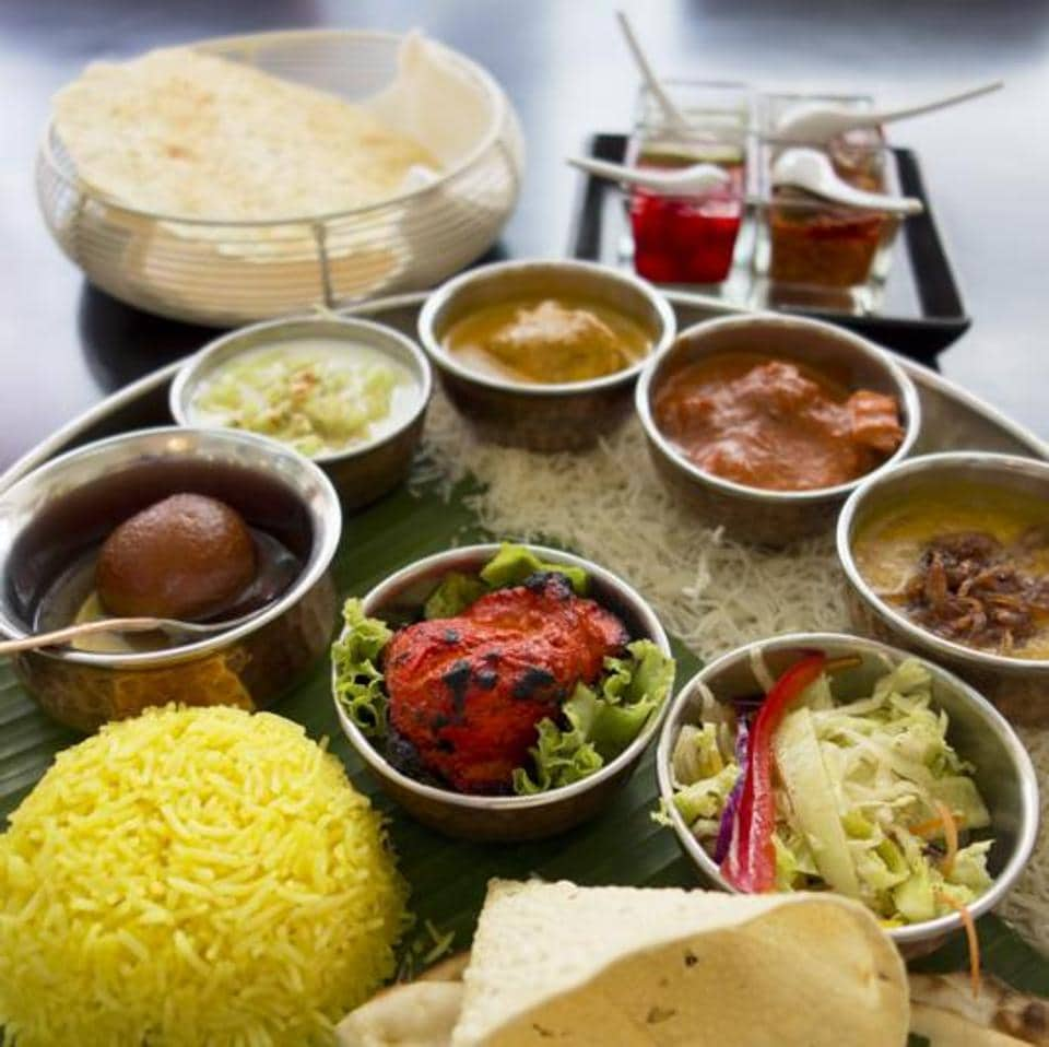 The world on a plate? It looks like a desi thali, but the gulab jamun has Persian roots, and the chicken tikka masala is actually Scottish.