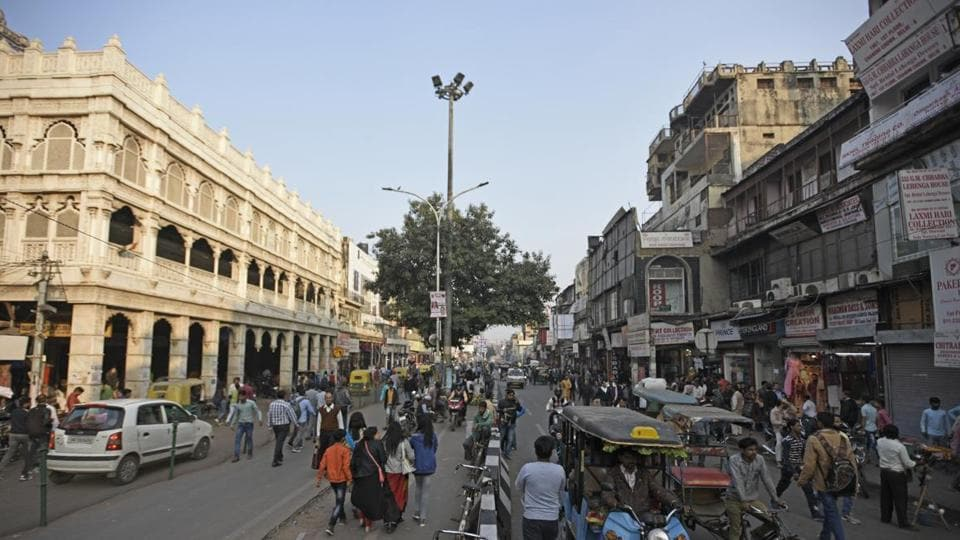 A view of ongoing of Chandni Chowk.
