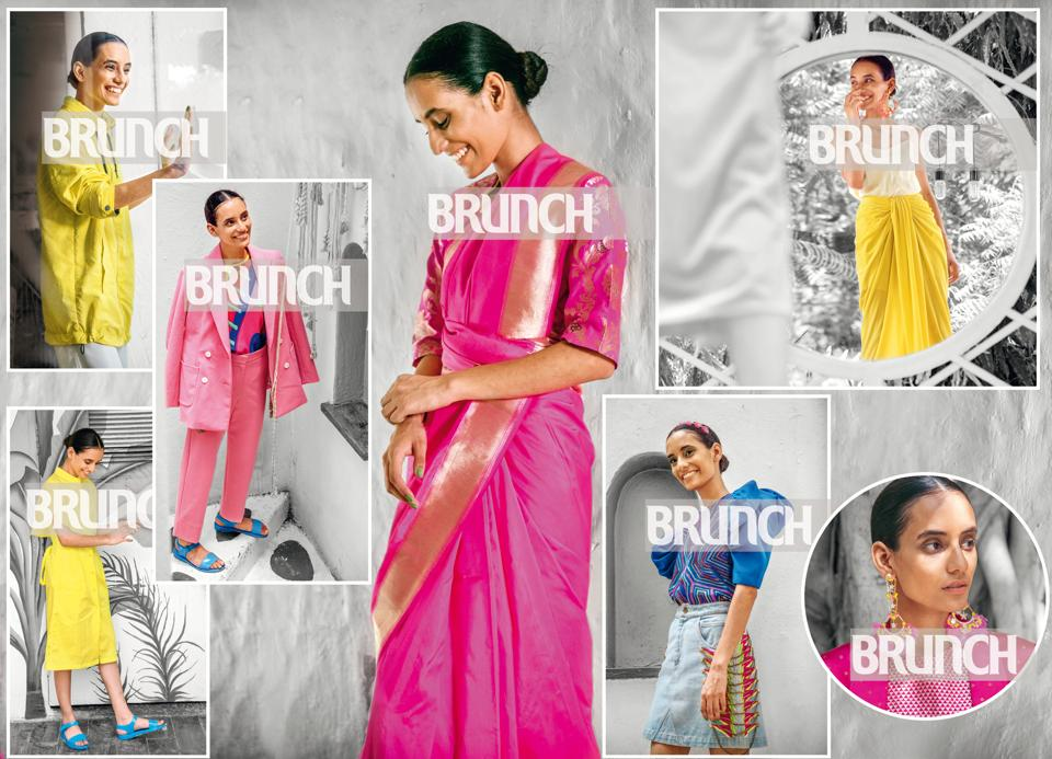 Seven super ways to brave the most Insta-friendly (and happiest) colours of the season! ( Styling by Jahnvi Bansal; location courtesy: Olive Bar & Kitchen, Delhi; model: Pragya Chamoli (Ninjas Model Management); Make-up and hair: Leeview Biswas; styling assistant: Chandni Agarwal )