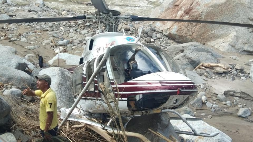 Relief operations with civil helicopters started on August 19 in the rain affected areas.