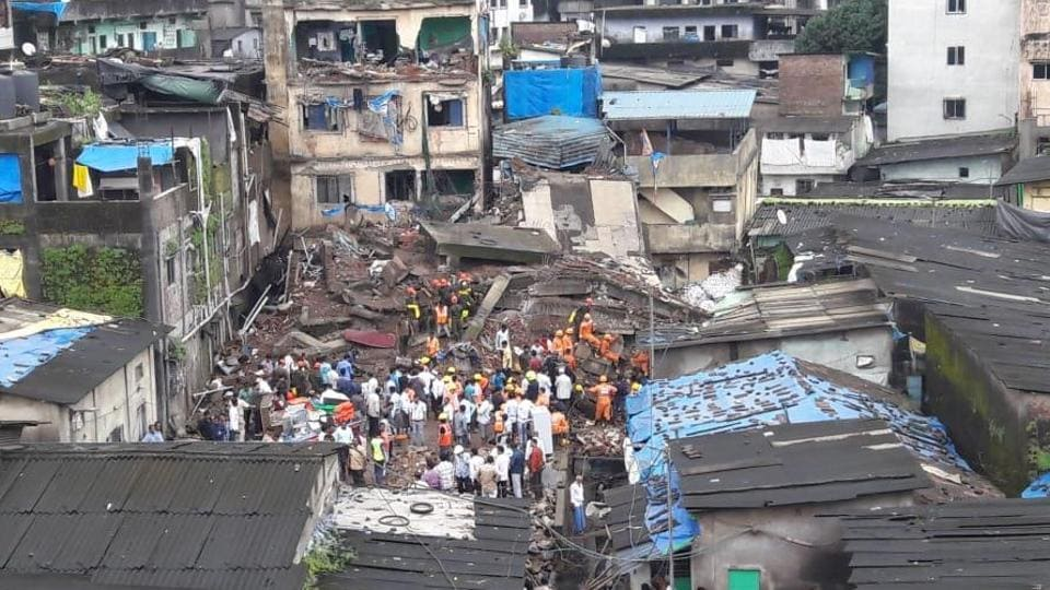 The Bhiwandi Nizampura City Municipal Corporation (BNCMC) said civic body officials and a fire brigade team had evacuated the families staying in the building in Shanti Nagar area shortly after residents informed them that the building's plaster was falling off.