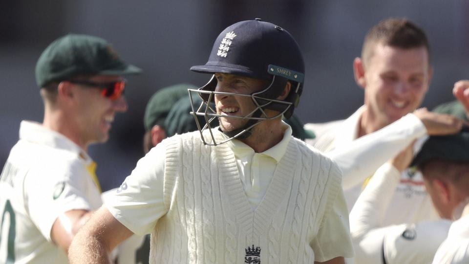 Leeds: England's Joe Root walks from the field after he was dismissed for no score.