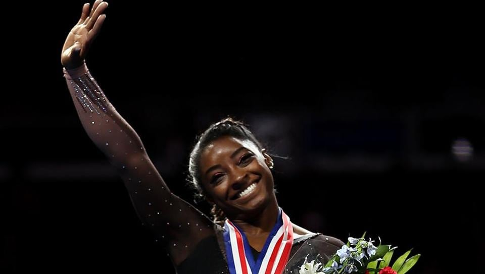 Simone Biles at  the 2019 US Gymnastics Championships.