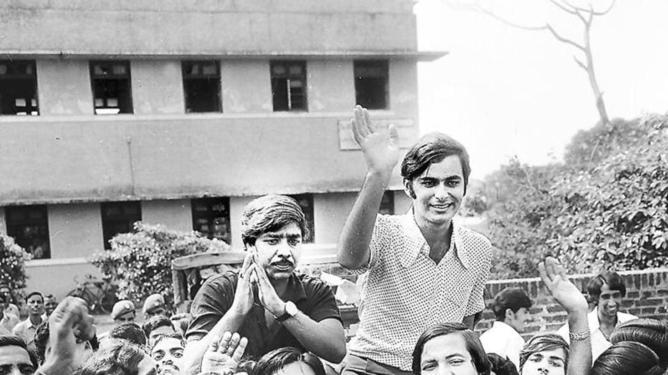 Image result for history of dusu election arun jetli