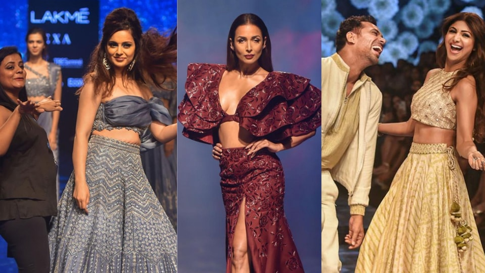 Arjun Kapoor, Shibani Dandekar, Malaika Arora, Kangana Ranaut, Ayushmann Khurrana, Disha Patani and Ananya Panday were among those who turned showstoppers at Lakme Fashion Week Winter/Festive 2019 this weekend.