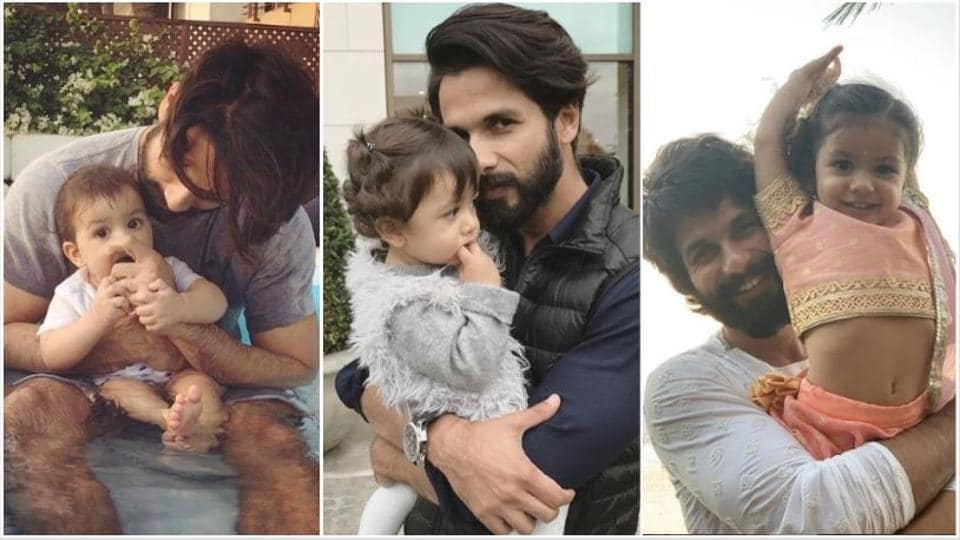 Misha with her dad Shahid Kapoor. She turns three years old on Monday.