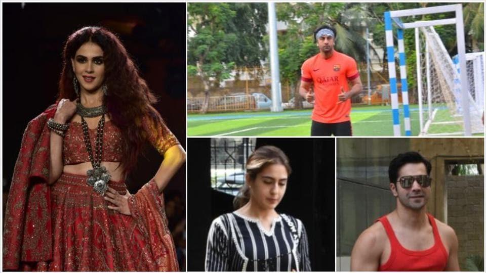 Genelia Deshmukh, Ranbir Kapoor, Sara Ali Khan and Varun Dhawan seen in Mumbai.