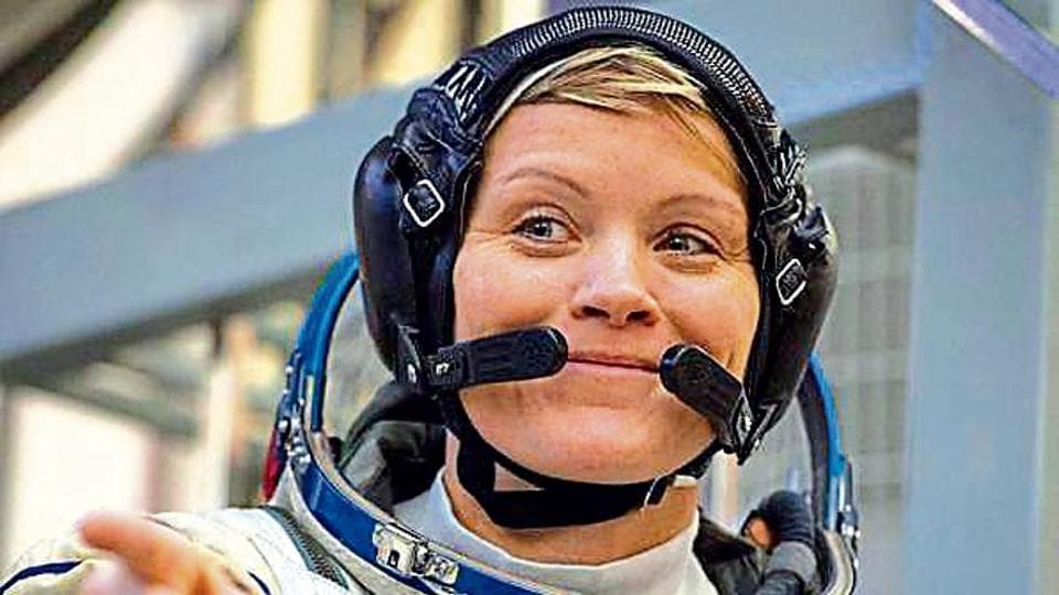 In this file photo taken on November 14, 2018 NASA astronaut Anne McClain, a member of the International Space Station (ISS) expedition 58/59, attends her final exam at the Gagarin Cosmonauts' Training Centre