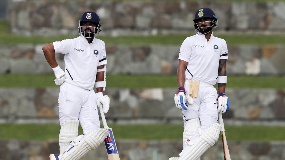 India's captain Virat Kohli, right, and teammate India's Ajinkya Rahane. (AP)