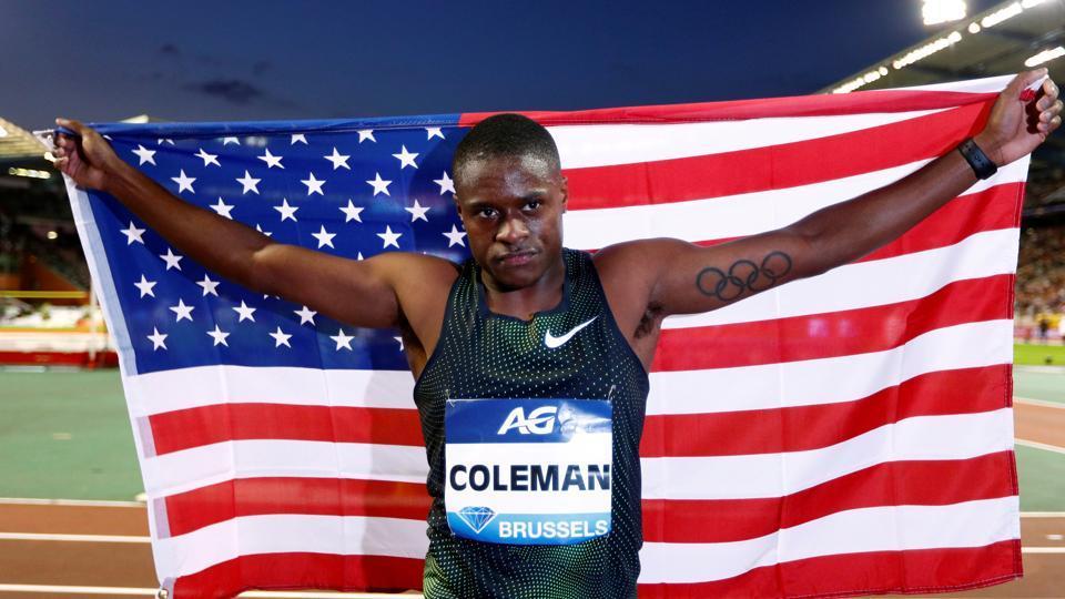 File photo of USAsprinter Christian Coleman.