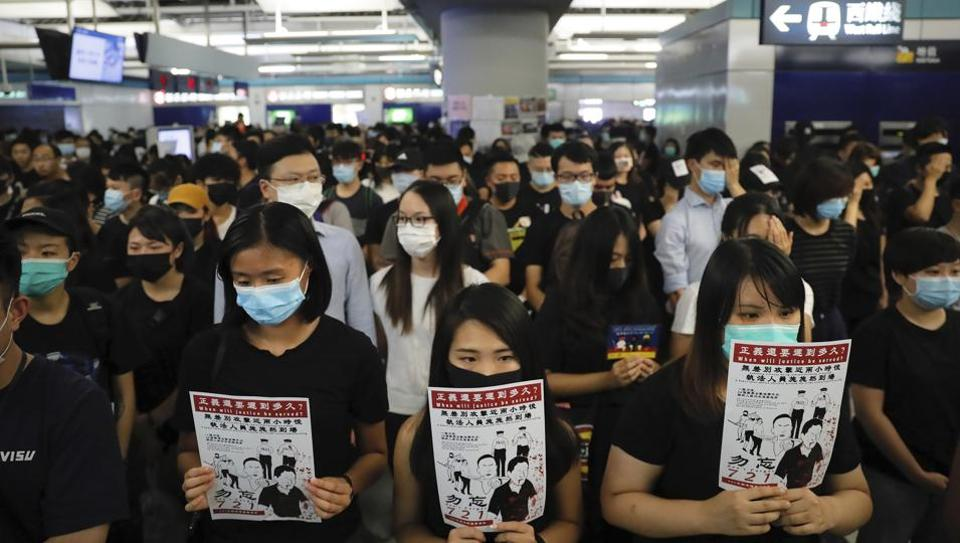 The protests have rocked Hong Kong for three months and plunged the city into its biggest political crisis since its handover from British to Chinese rule.