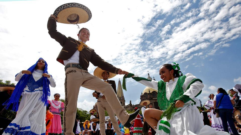 """This new record shows that our traditions are continuing to spread among young people,"" Xavier Orendain, president of the Chamber of Commerce of Guadalajara and the event's organizer, said. (Ulises Ruiz / AFP)"