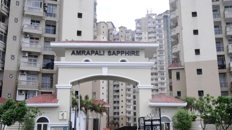 A view of Amrapali Sapphire, Sadarpur, Sector-45, in Noida.