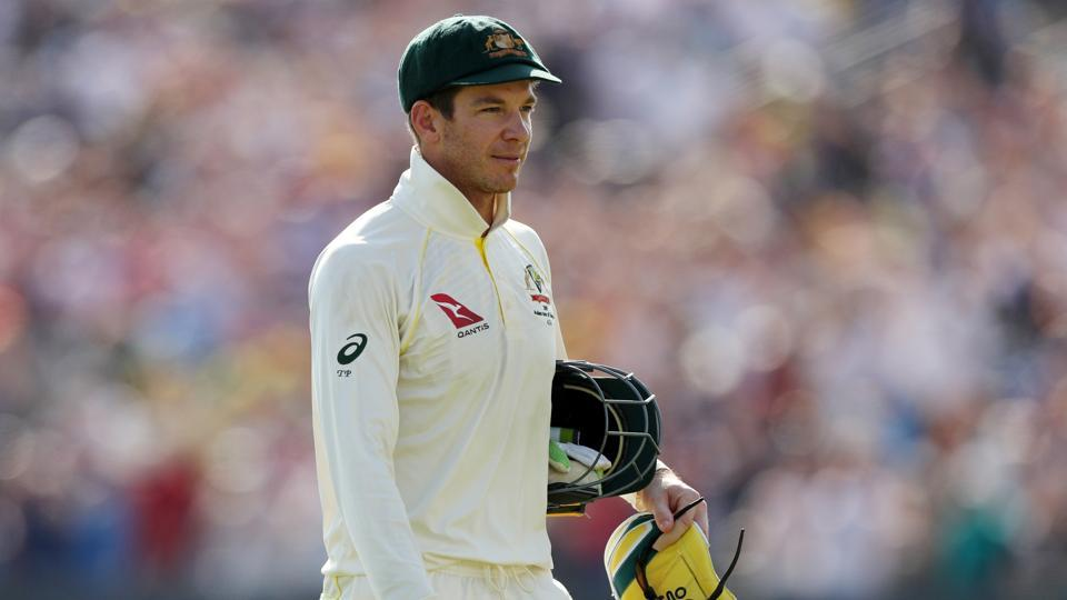 Australia's Tim Paine looks dejected after losing the test