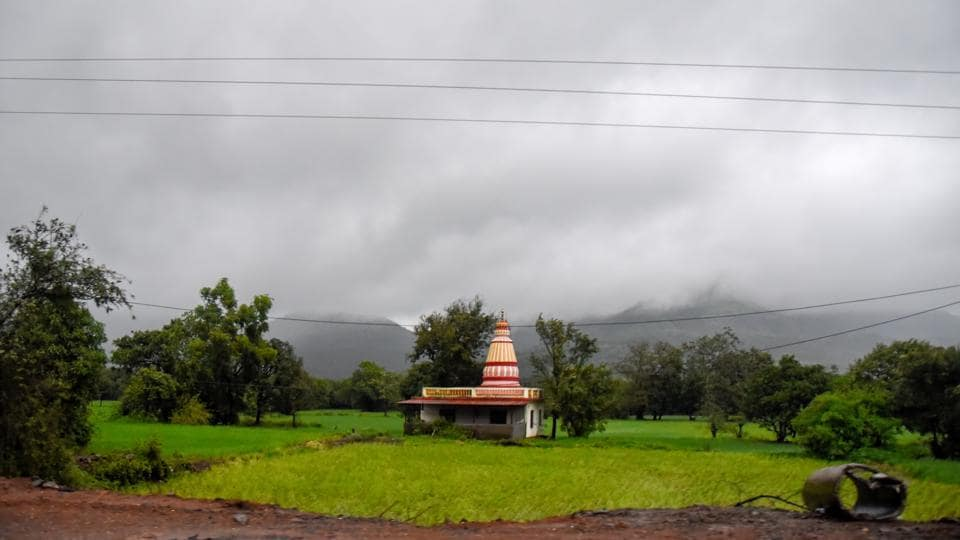 Tamhini ghat as seen from a village in Muslhi.
