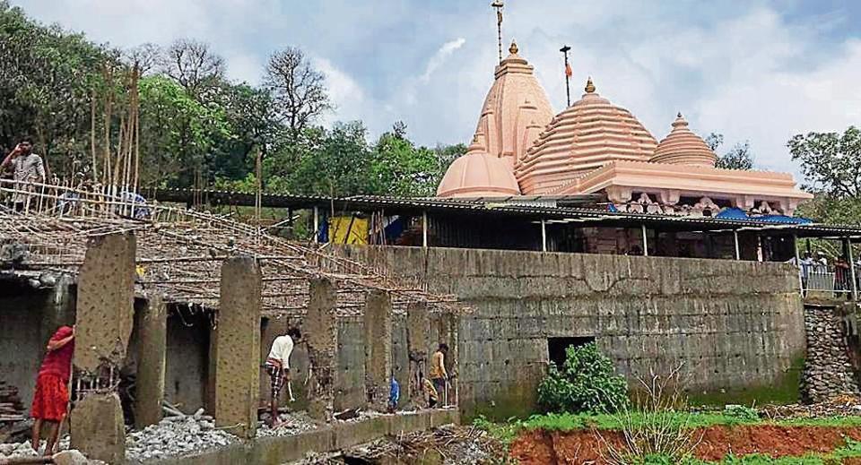 Trustees of the Balayogi Shri Sadanand Maharaj Ashram demolished an under-construction dormitory, adjacent to the main structure, at Tungareshwar Wildlife Sanctuary on Monday.