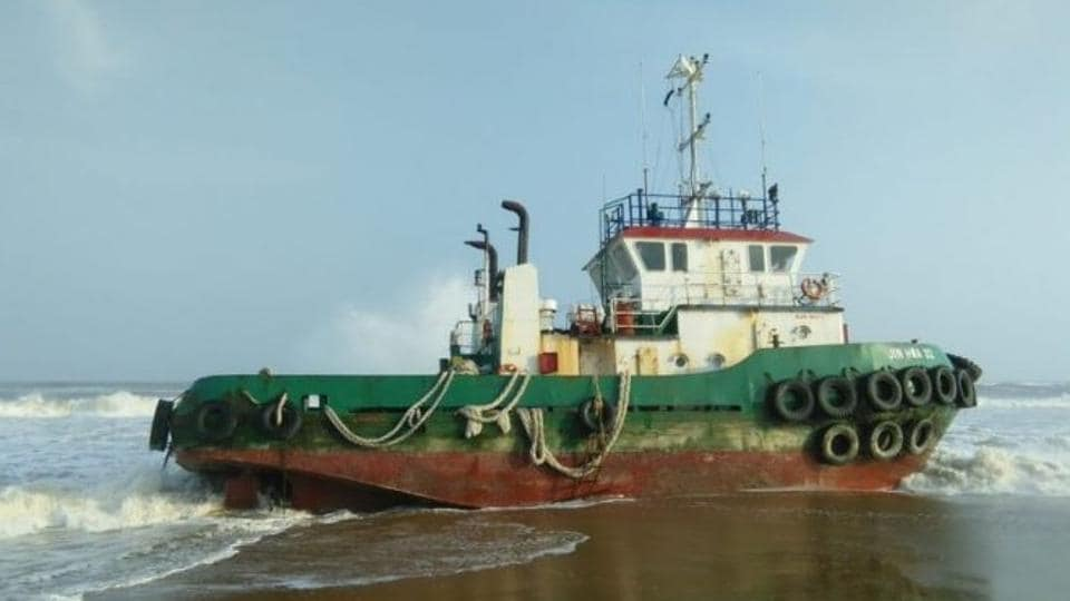 The Malaysian vessel  ran aground near Chilika lake on August 7 after it drifted in a storm in the Bay of Bengal.