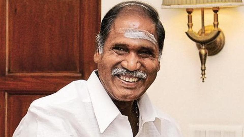 All India N R Congress President and former Chief Minister, N Rangaswamy walked out from Puducherry Assembly.